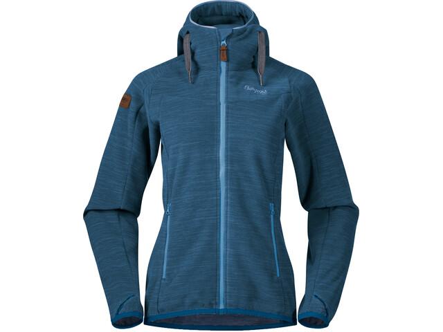 Bergans Hareid Fleece Jacket Damen stone blue melange